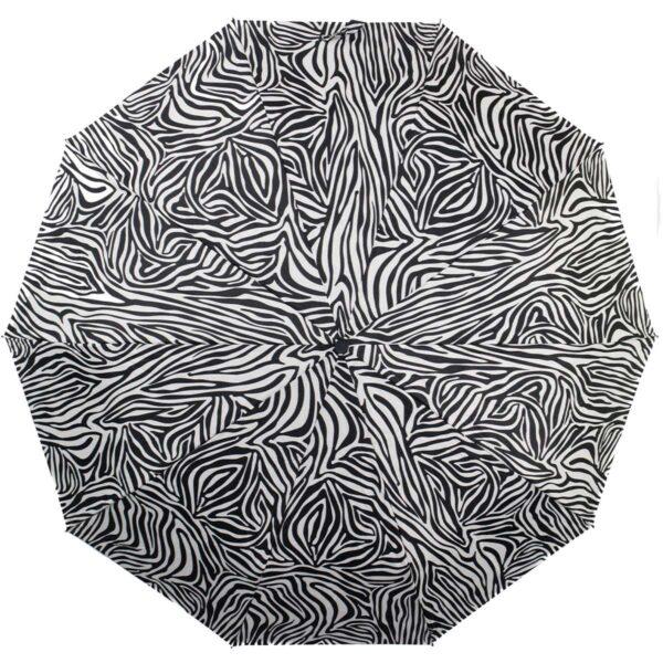 Зонт с принтом зебра полный автомат |Kobold