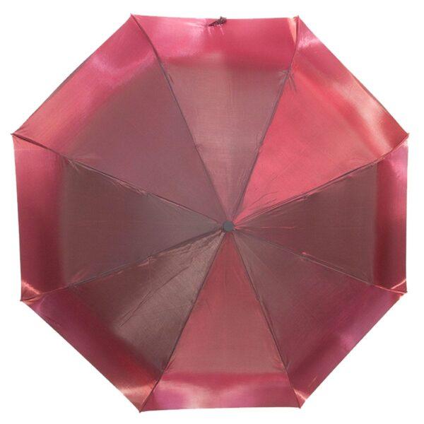 Женский зонт бордового цвета хамелеон механический-Lucky Elephants