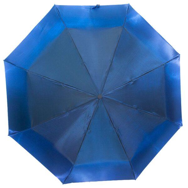 Женский зонт синего цвета хамелеон механический-Lucky Elephants