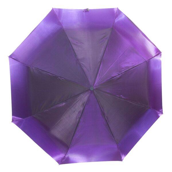 Женский зонт фиолетового цвета хамелеон механический-Lucky Elephants
