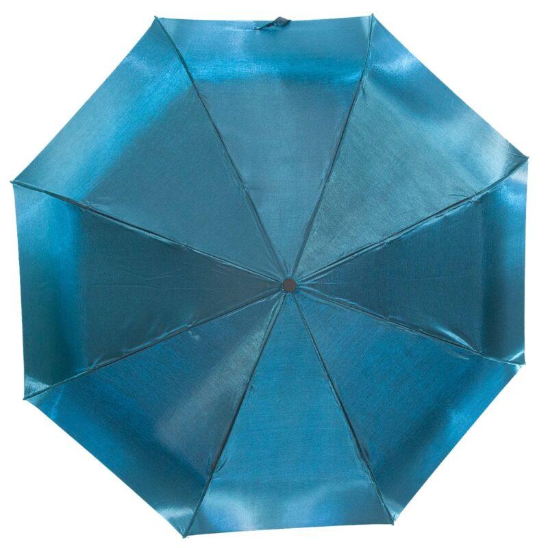Женский зонт бирюзового цвета хамелеон механический-Lucky Elephants