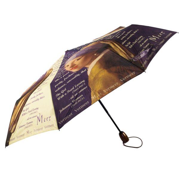 Женский зонт полный автомат-Девушка с жемчужной сережкой