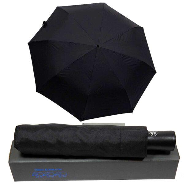 Зонт полный автомат черного цвета