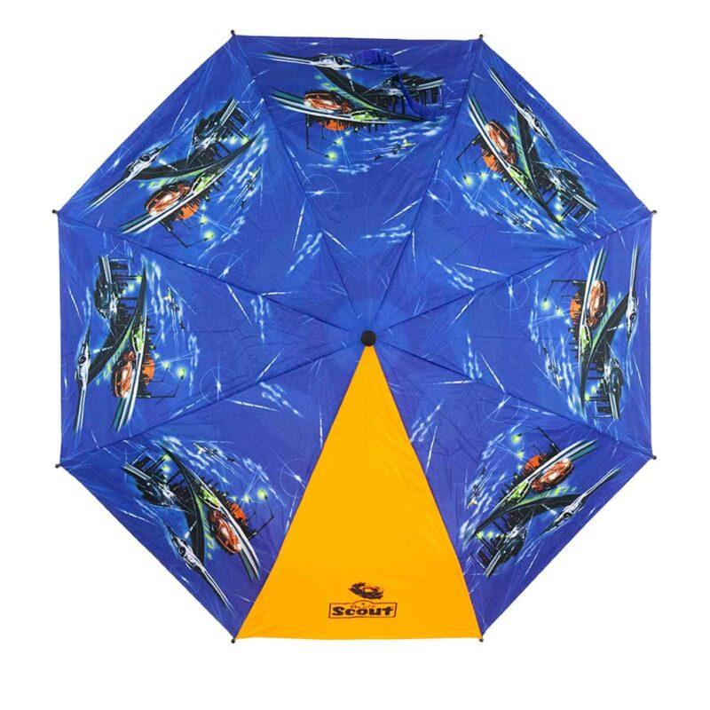 Складной детский зонт с рисунком-машина улица