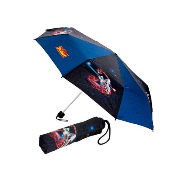 Складной детский зонт с рисунком-Космическая ракета