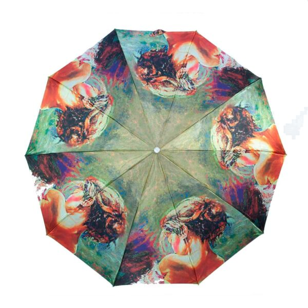 Женский зонт полный автомат сатин-Три Слона