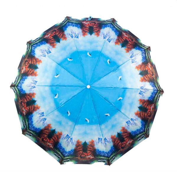 Женский зонт полный автомат сатин