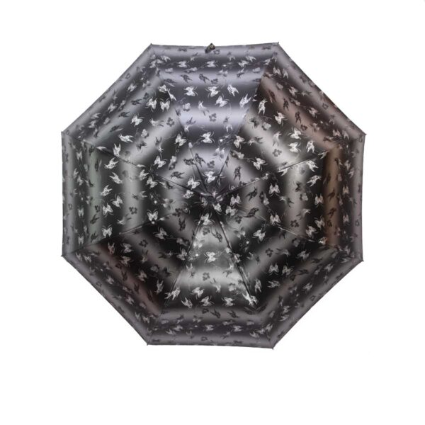 Зонт лаке черно-серый цвет полный автомат бабочки-Три Слона