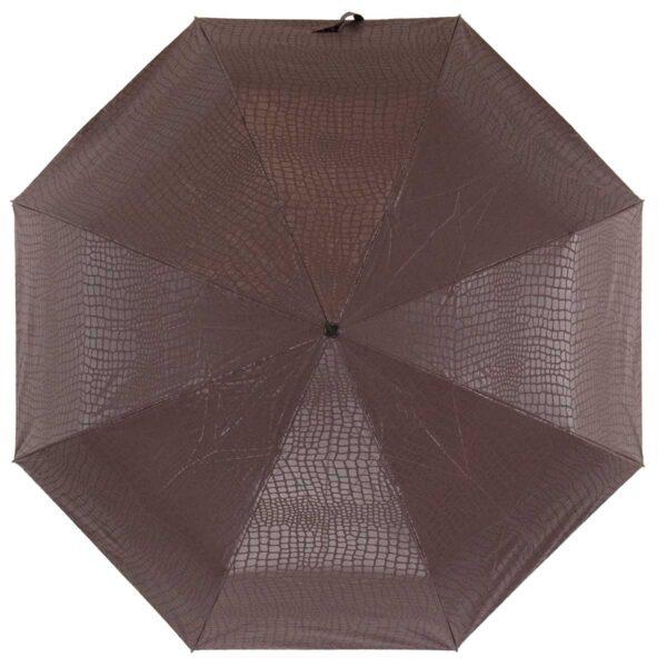 Зонт Три Слона коричневого цвета лаке полный автомат