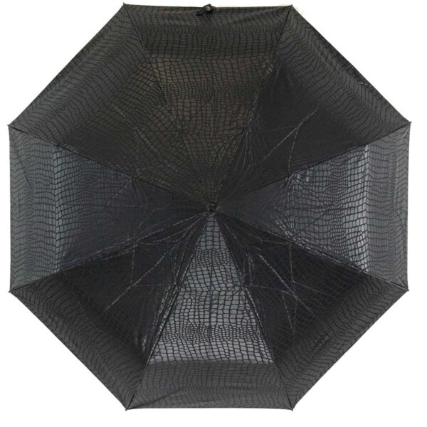 Зонт Три Слона черного цвета лаке полный автомат