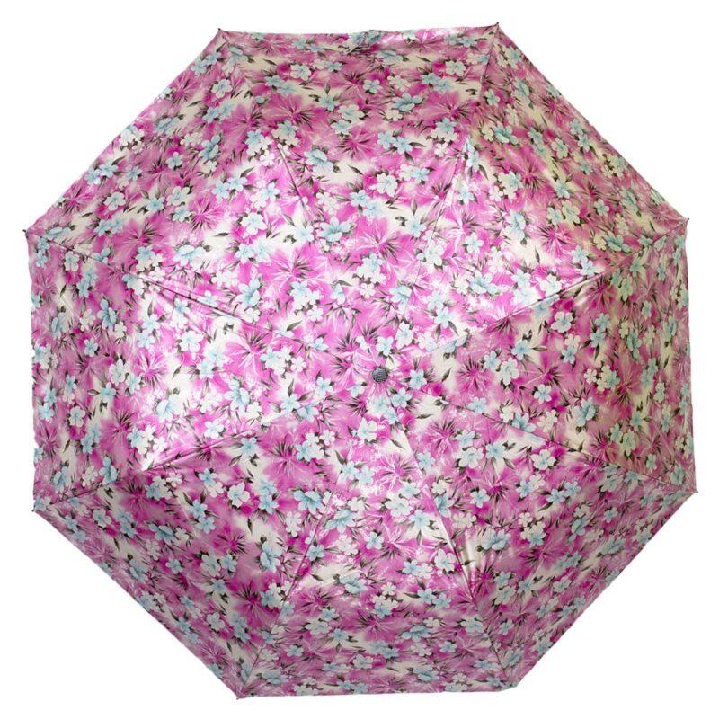 Мини зонт розового цвета лаке