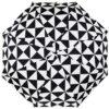 Мини зонт черно белого цвета